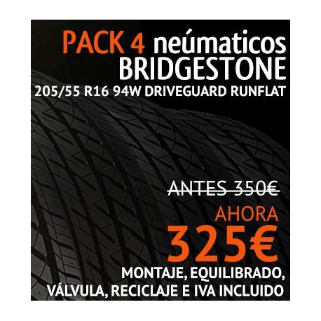 Pack 4 neumaticos Bridgestone T001 205/55 R16 91V