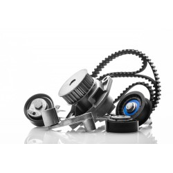 Kit de distribución con bomba de agua y correa de accesorios para Peugeot/Citroen 1600 HDI